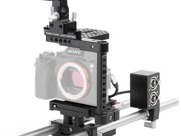 Sony a7R II kit w/ WC Cage, Tripod, SmallHD, EF Adapter, etc