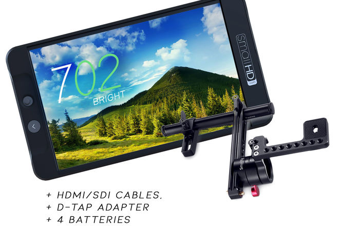 "SmallHD 702 Bright 7"" SDI/HDMI Field Monitor +Rail/Rod Mount"