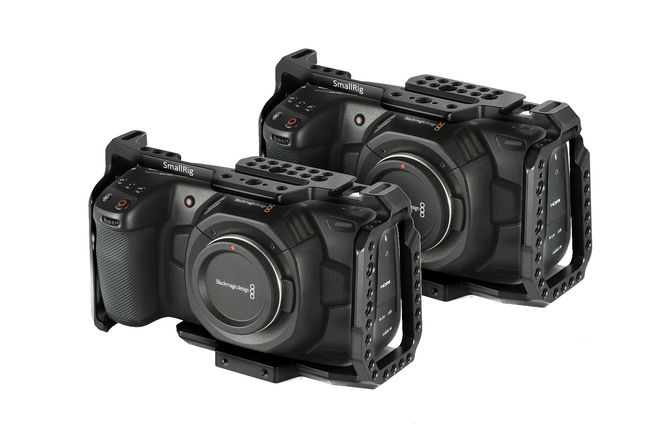2x Kits: BMPCC4 Blackmagic Pocket 4K + SSD/V-Mount Batts