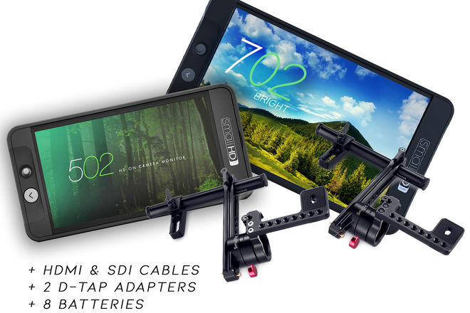 "SmallHD 702 Bright 7"" + 502 5"" SDI/HDMI Monitors + Mounts"