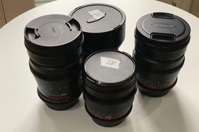 Rokinon EF Cine Lens Set (14, 24, 35, 85)