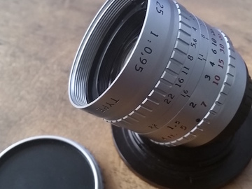 Rent: 1971 ANGENIEUX 25mm 0.95 vintage 16mm c-mount cine lens
