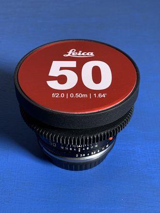 Leica R 50mm Summicron f/2.0 Cinevised Lens w/Canon Mount