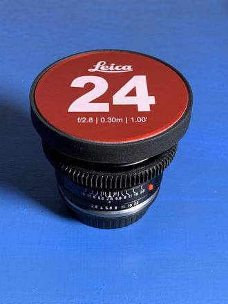 Leica R 24mm f/2.8 cinevised w/Canon mount