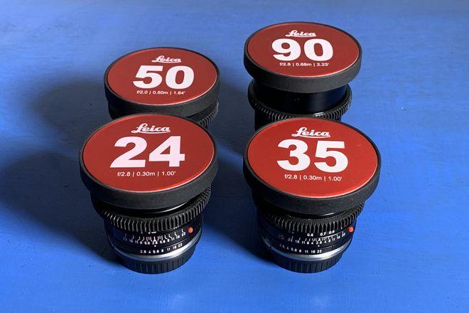 Leica R Cinevised Lens Set, 24mm, 35mm, 50mm, 90mm