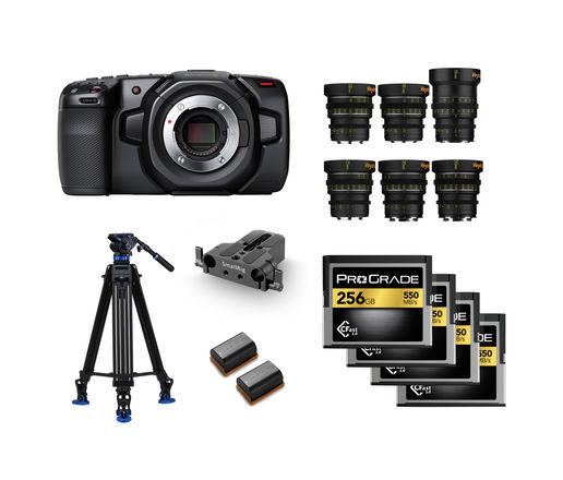 Blackmagic Pocket Cinema Camera 4K - Veydra Lens - Package