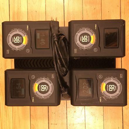 Switronix Hypercore 4x 98W Batteries w/ Charger