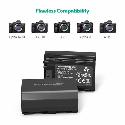 Sony NP-FZ100 Battery & Charger for Sony A7III/A9/A7RIII