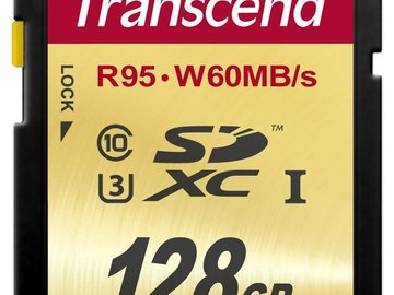 Rent: 3x 128GB SDXC cards (Class 10 UHS-3) 4k approved!