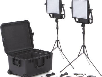 Rent: (2) LitePanels Astra 1x1 Bi-Color w/ 4 Batteries and Charger