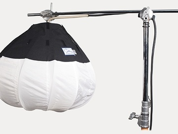 "Rent: (2 of 2) JEM Ball 30"" 1500W w/ 2K Variac & Menace Arm/Stand"
