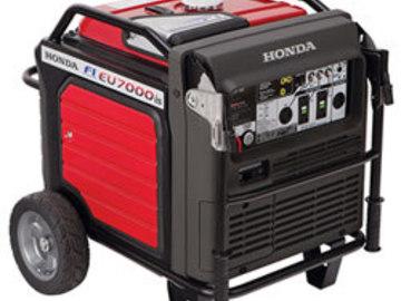 Rent: (1 of 2) Honda 7000W Inverter Generator w/ 60A Bates Paddle