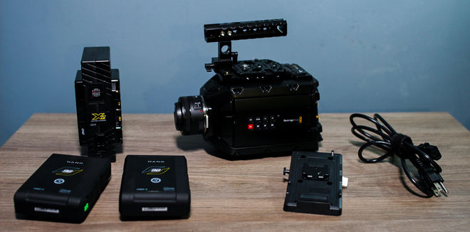 Blackmagic URSA Mini 4.6K w/2 nano core slim batteries