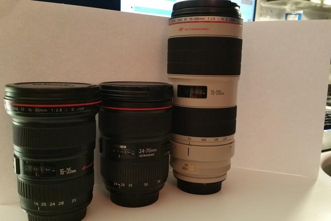 Canon 16-35 L II, 24-70 L II,  and 70-200 L II Lens Kit
