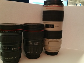 Rent: Canon 16-35 L II, 24-70 L II,  and 70-200 L II Lens Kit