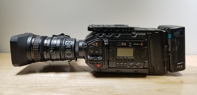 Blackmagic URSA Mini Pro W Fuji 16x 8mm Servo Lens