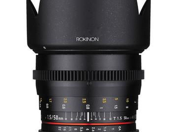 Rent: Rokinon Cinema DS 35mm & 50mm lenses