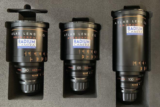 Atlas Anamorphic T2 Orion  Lens Set 3 Lenses PL Mount