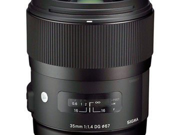 Rent: Sigma 35mm f/1.4 DG HSM Art Lens for Canon