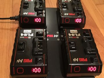 4  Pag PL94 gold mount batteries and quad charger