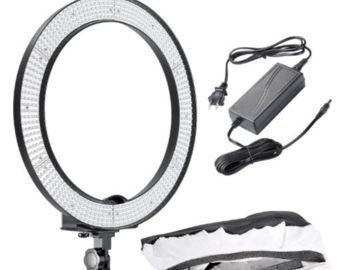 "Rent: Neewer 18"" LED dimmable ring light"
