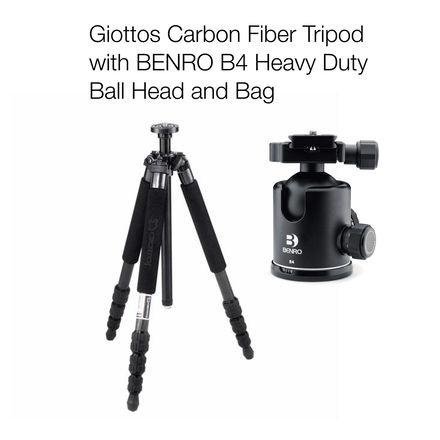 Giottos Professional Carbon Fiber Tripod  with Ball Head