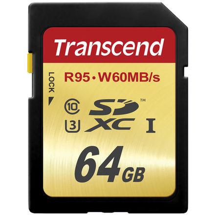 (x3) Transcend 64 GB High Speed 10 UHS-3 Flash Memory Card