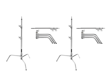 (2x) 20'' C-Stand (Turtle Base)