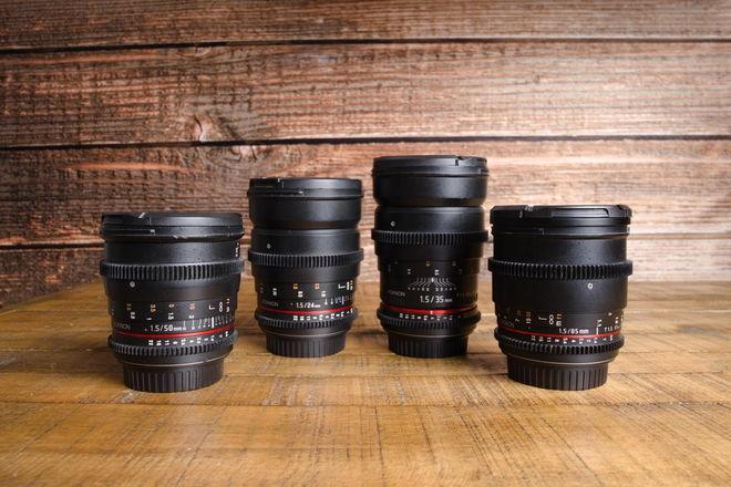 Rokinon Cine DS Lens Set 24, 35, 50, 85 Plus Hard Case