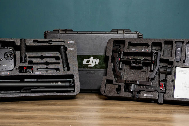 DJI Ronin with extension arms & 2 batteries