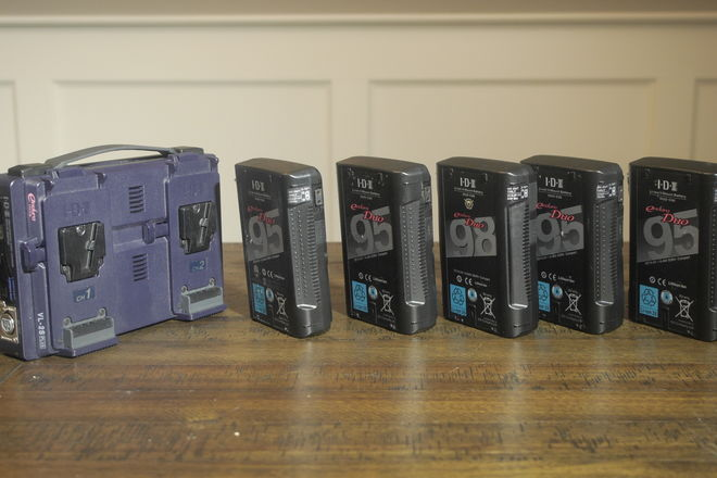 V-Mount Batteries and Charger