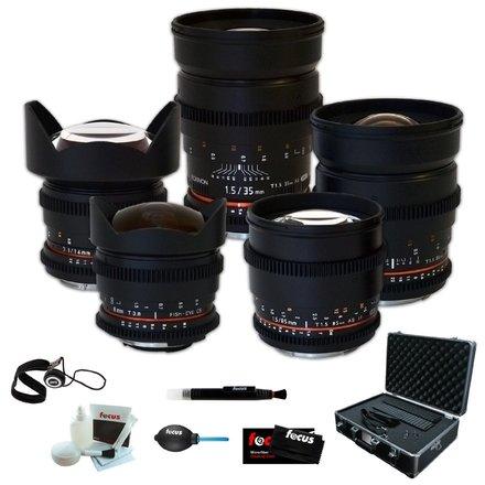 Rokinon - Canon EF - 35mm + 24mm + 14mm + 85mm + 8mm