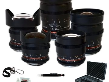 Rent: Rokinon - Canon EF - 35mm + 24mm + 14mm + 85mm + 8mm