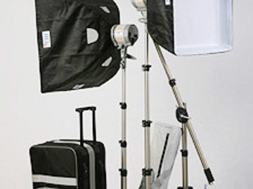 Rent: Everlight 3 point 750w lighting kit with boom and softboxes