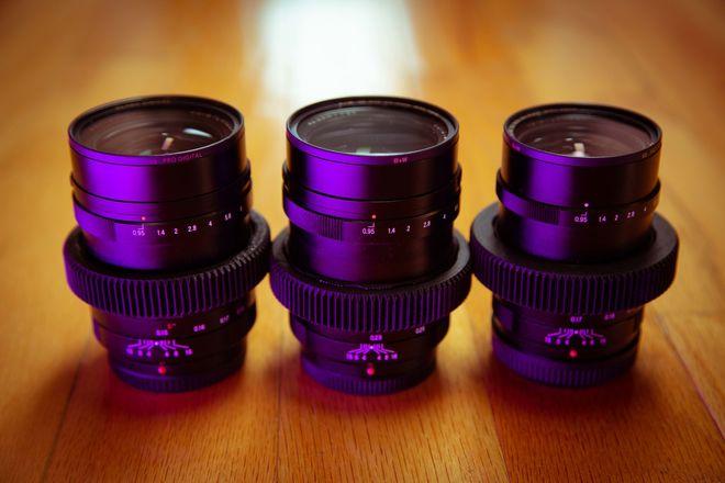 Voigtlander f0.95 Lens Set 17.5mm, 25mm, 42.5mm MFT