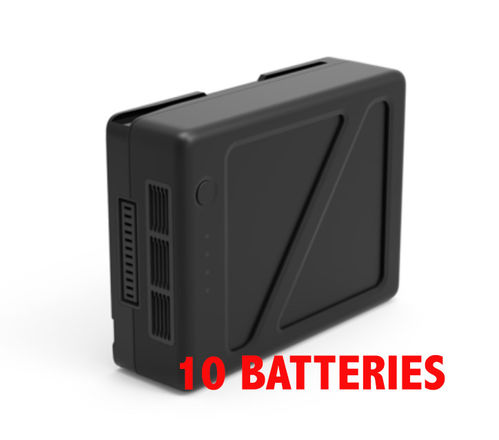 Inspire 2/Ronin 2 TB50 10 Batteries and Charger in case