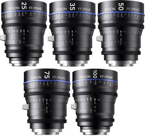 XENON FULL FRAME CINE PRIMES 5 Lens Kit
