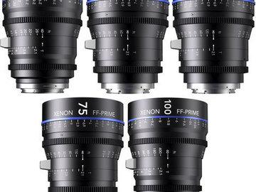 Rent: XENON FULL FRAME CINE PRIMES 5 Lens Kit