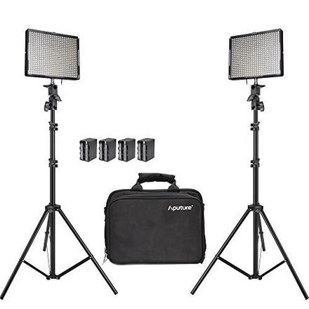 2 LED Panels Aputure Amaran AL-528S & AL-528W Panels/Stands