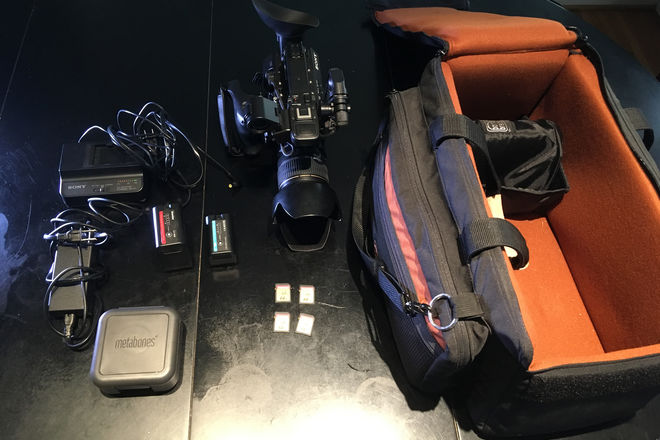 Sony PXW-FS5 w Canon lens, Metabones, 4 SDs, 2 batteries
