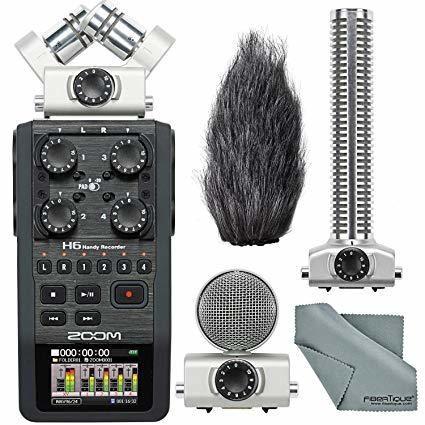 Zoom H6 Handy Recorder w Shotgun Microphone