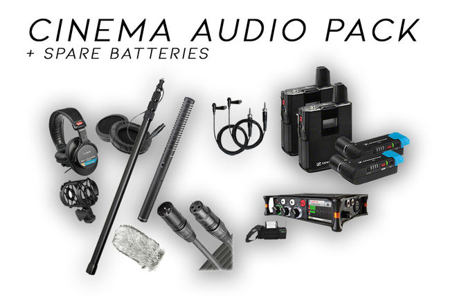 Cinema Audio Gear Pack (Sennheiser AUX, NTG, SoundDevice)