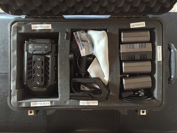 Ursa Mini Pro w/ viewfinder, batts and  cards