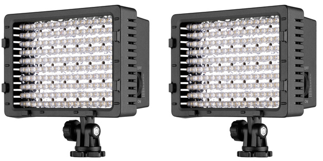 2x NEEWER® 160 LED CN-160 Dimmable Ultra High Power Panel