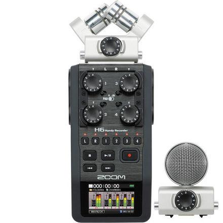 Zoom H6 Handy Recorder w/ Interchangeable Mics Portable Field Recorder