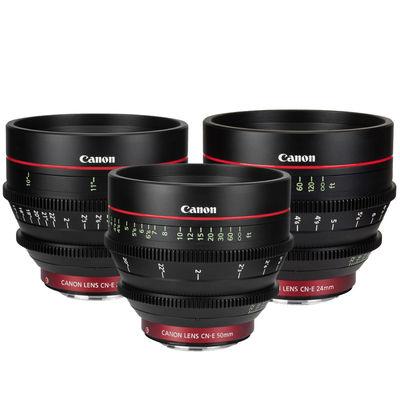 Canon CN-E Cinema Prime Lens Set (24mm, 50mm, 85mm) EF
