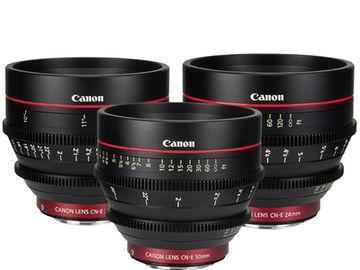 Canon CN-E Cinema Prime Lens Set (24mm, 50mm, 85mm)