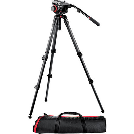 Manfrotto 504HD Head w/535 2-Stage Carbon Fiber Tripod Syste