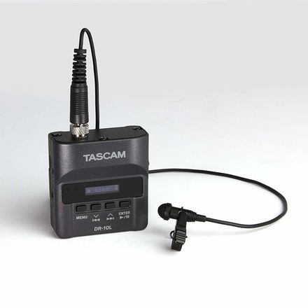 (4) Tascam DR-10L Digital Audio Recorder with Lavalier Mic