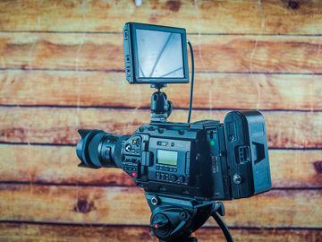 Blackmagic URSA Mini Pro, monitor, lens with extras